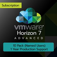 VMware Horizon 7 Advanced: 10 Pack (Named Users) (1 Year Production Support)