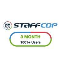 StaffCop 3 Month 1001+ Users