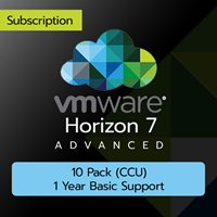 VMware Horizon 7 Advanced: 10 Pack (CCU) (1 Year Basic Support)