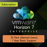 VMware Horizon 7 Enterprise: 10 Pack (Named User) (1 Year Basic Support)