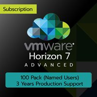 VMware Horizon 7 Advanced: 100 Pack (Named Users) (3 Years Production Support)