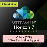 VMware Horizon 7 Enterprise: 10 Pack (CCU) (1 Year Production Support)