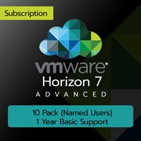 VMware Horizon 7 Advanced: 10 Pack (Named Users) (1 Year Basic Support)