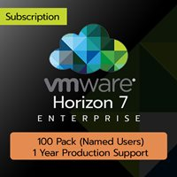 VMware Horizon 7 Enterprise: 100 Pack (Named User) (1 Year Production Support)